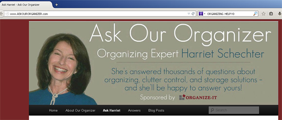 Ask Our Organizer website